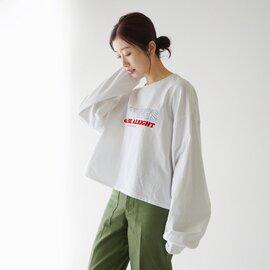 kha:ki|【2021SS】オーバーサイズ クルーネック 長袖 Tシャツ ロンT カットソー MIL-21HCS237A カーキ