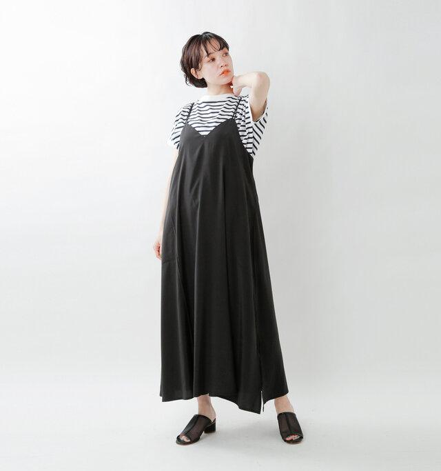 model saku:163cm / 43kg  color : black / size : S