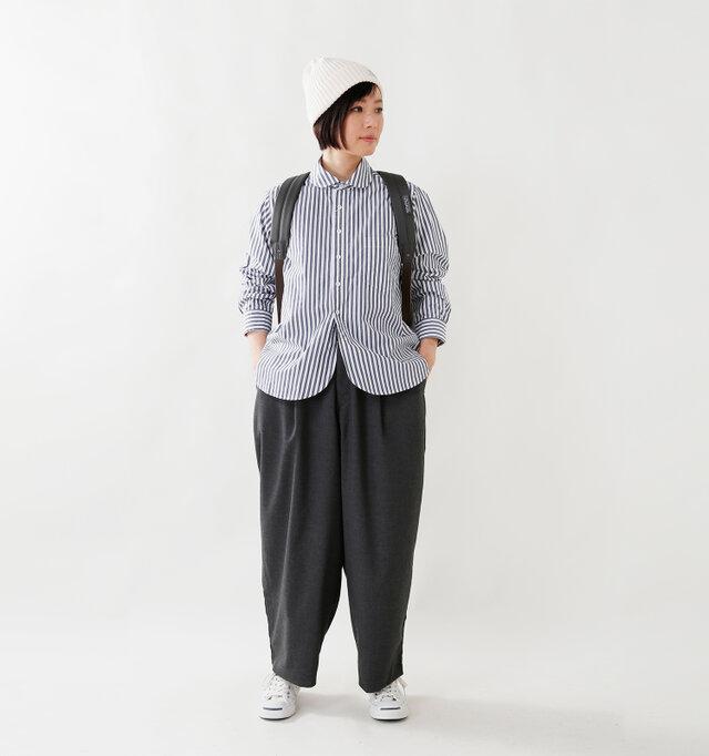 model mayu:158cm / 48kg color : stripe / size : 0