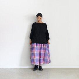 ichi Antiquités|Linen Madras Skirt