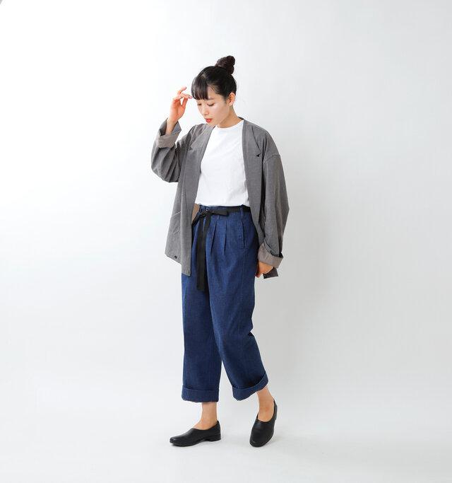 model mizuki:168cm / 50kg  color : indigo / size : S