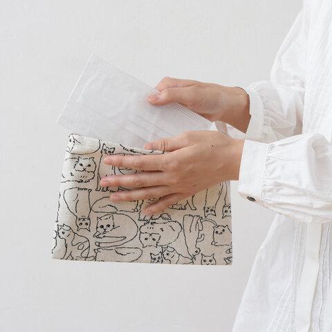 TUTIE.|抗菌・防臭・抗ウイルス加工・日本製 コットンリネンプリントマスクケース