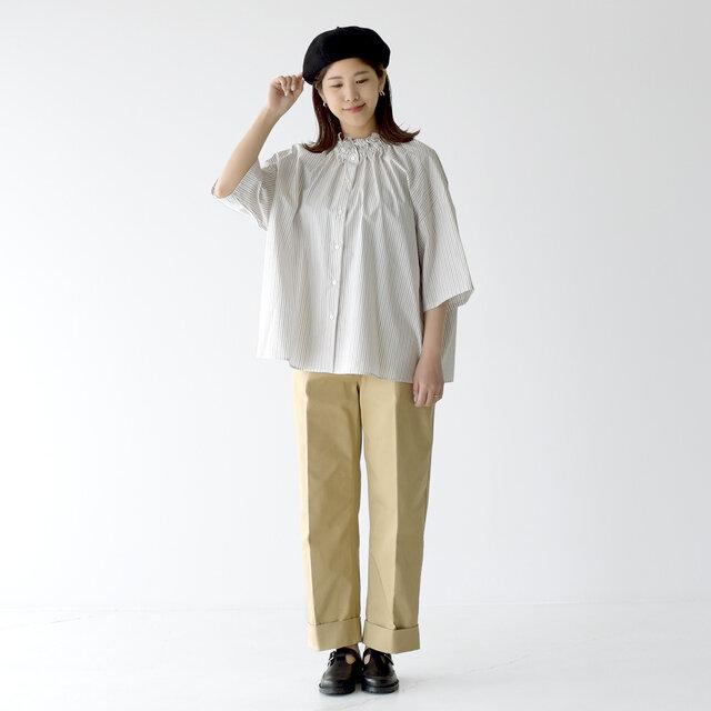 モデル: 157cm / 47kg color:brown multi / size:38(フリーサイズ)