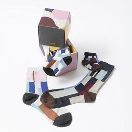 TRICOTE 親子でお揃い靴下セット アーガイル・ランダムパッチ柄(出産祝い・結婚祝い・プチギフト)