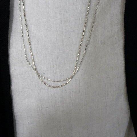 noy. Karen Silver Beads Necklace