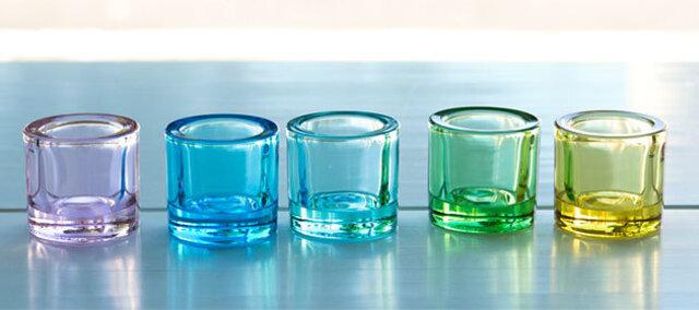 淡色組み合わせ 左から:ペールピンク、ライトブルー(販売終了)、ウォーターグリーン、アップルグリーン、レモン
