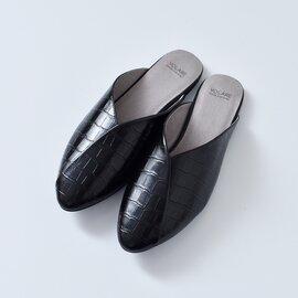 "volare|ポインテッドトゥレザースリッパサンダル""LEATHER SLIPPER"" leather-slipper-ma"