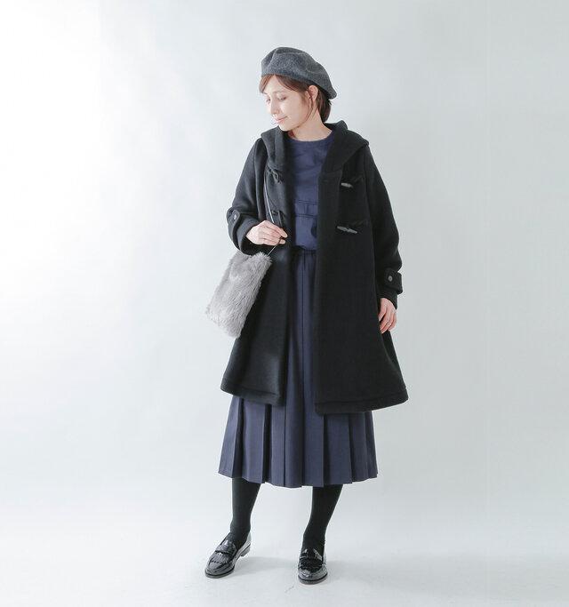 model yama:167cm / 49kg color : black×black / size : F
