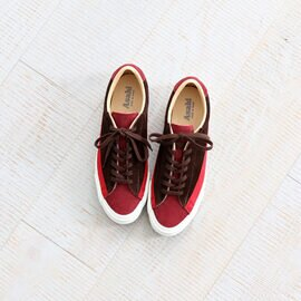 ASAHI|BELTED LOW SUEDE -RED BROWN