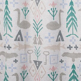 SAANA JA OLLI|BIRTH OF THE WORLD 既製カーテン