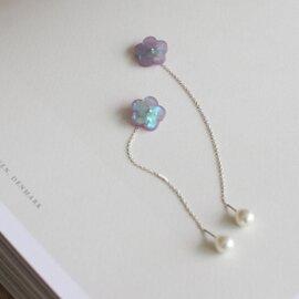 LUEUR|Holo Hana Chain ピアス