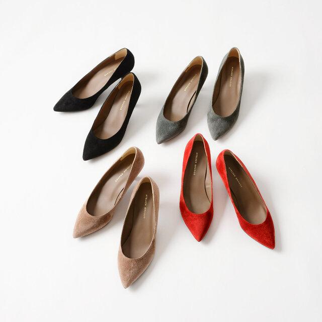 カラーは左上から時計回りに「black」「grey」「red」「oak beige」の全4色をご用意しています。
