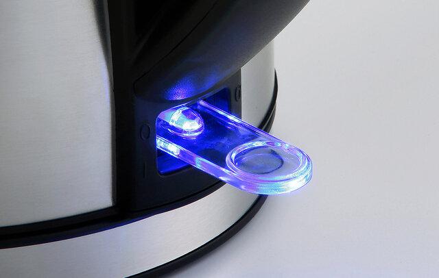○湯沸しパイロットランプ付き(青色LED) パイロットランプで、湯沸かしをお知らせ。