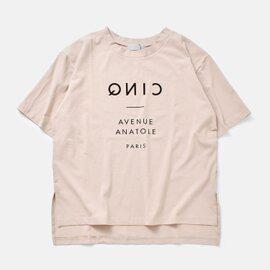 audrey and john wad|天竺フロッキーロゴプリントクルーネックビッグプルオーバーTシャツ h0957-mm