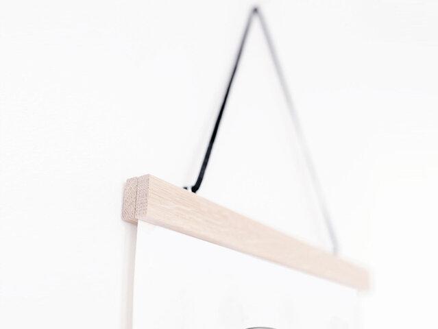 Kunskapstavlan|木製ポスターハンガー 30×40cm