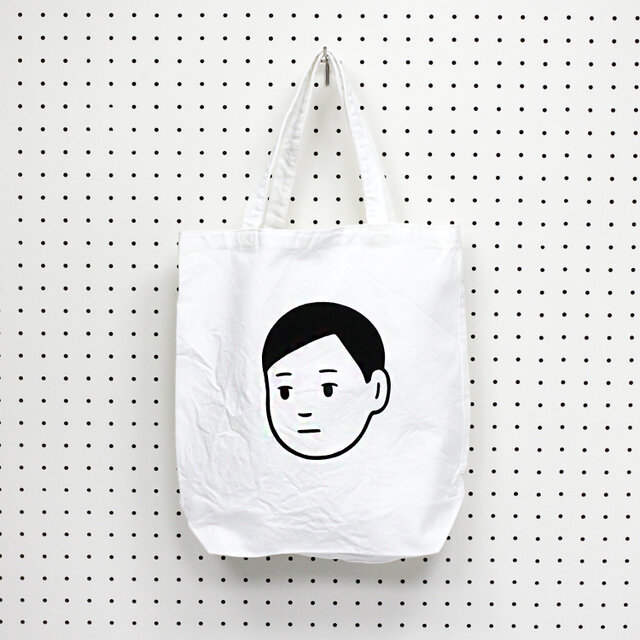 2014年7月、電子書籍「まなざし/菅俊一著」(ボイジャー刊)のカバーイラストとして制作したイラストを使ったトートバッグ。