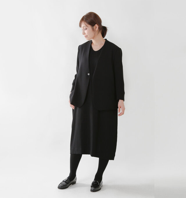 model yama:167cm / 49kg color : black / size : S  カラーはネイビー、ブラックの2色をご用意しました。