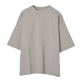 SETTO ワイドシルエット ドロップショルダー クルーネック Tシャツ 30T-SHIRT ベーシック T 5分袖 トップス ST-005 セット