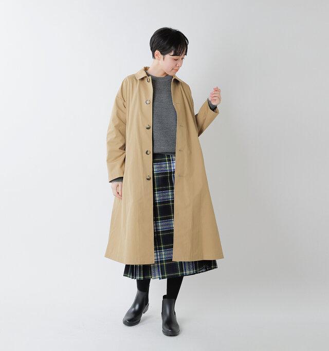 model saku:163cm / 43kg color : beige / size : 38