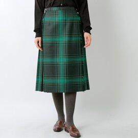 O'NEIL OF DUBLIN|aranciato別注 ウールプリーツ巻きスカート 5073w-fn