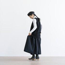 homspun|梳毛杢ツイル ダブルポケット ギャザースカート