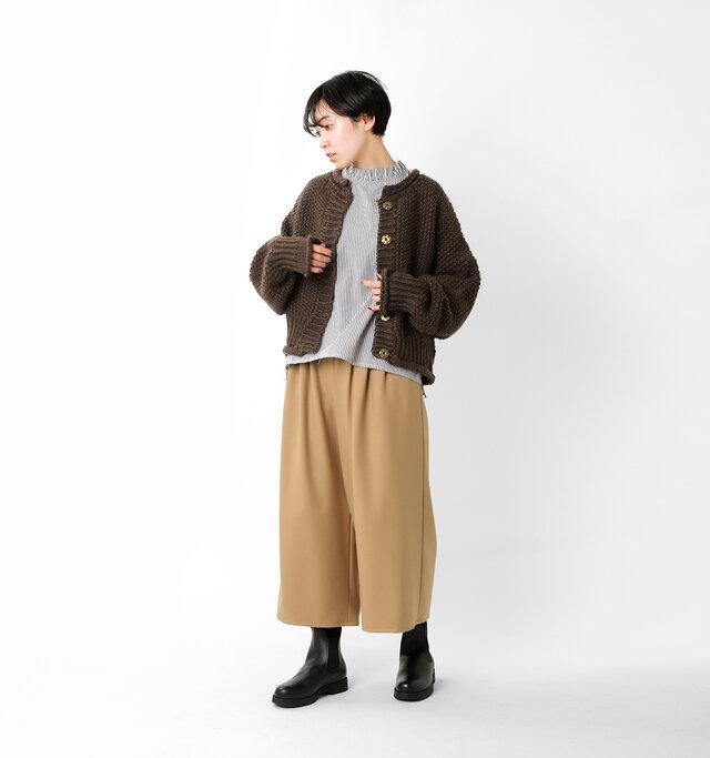 model saku:163cm / 43kg  color : brown / size : 2