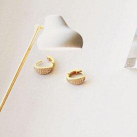 ENAMEL COPENHAGEN Sparkling Hoops Pierce (スパークリング フープ ピアス)【メール便】