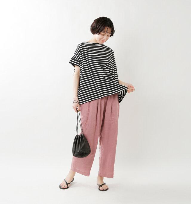 model saku:163cm / 43kg  color : black×offwhite / size : 1