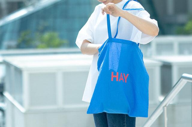 HAY BLUE TOTE BAG