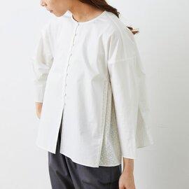 utilite|サークル刺繍 ギャザーシャツ