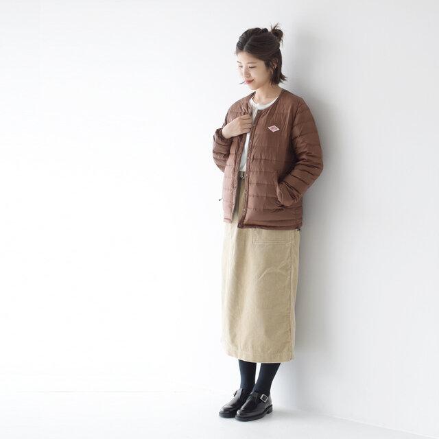 モデル:157cm / 47kg color : sand-beige / size : 36(S~M)