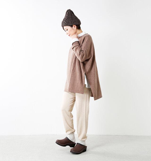 model mayu:158cm / 48kg color : beige / size : F