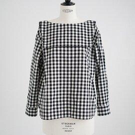 Mochi sailor blouse (gingham check)