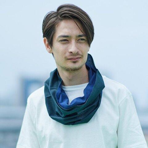 Oo|てぬぐい Oo[ワオ]  Blue × Green