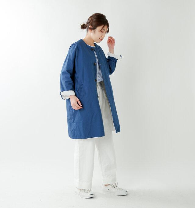model hikari:165cm / 48kg color : blue / size : 1(S)