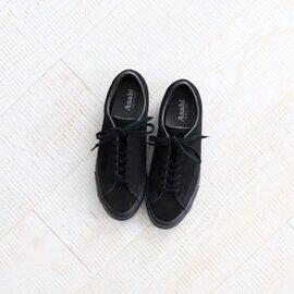 ASAHI|BELTED LOW SUEDE -BLACK BLACK