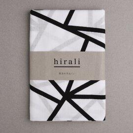 hirali|【送料無料】黒染め手ぬぐい ~氷結ぶ~