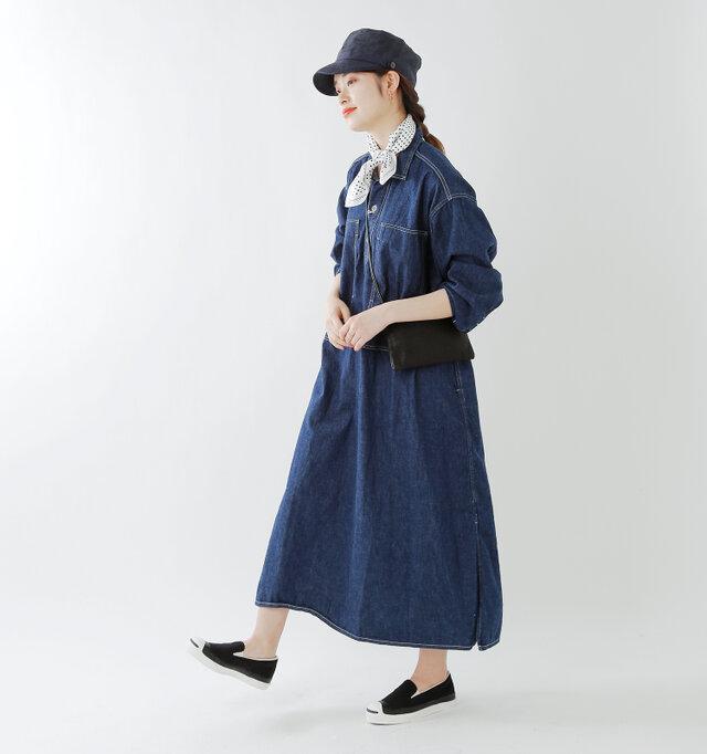 model kanae:167cm / 48kg color : cosmic blue / size : M