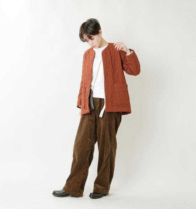 model saku:163cm / 43kg  color : dark brown / size : M