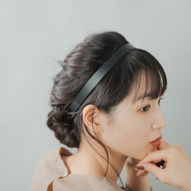 "SYKIA|真鍮×カウレザーヘアバンド""Leather Hair Band"" 02-201-h06-rf"
