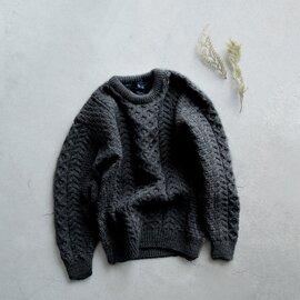 Aran Woollen Mills|ケーブル編みウールニットプルオーバー cdf103001-yn
