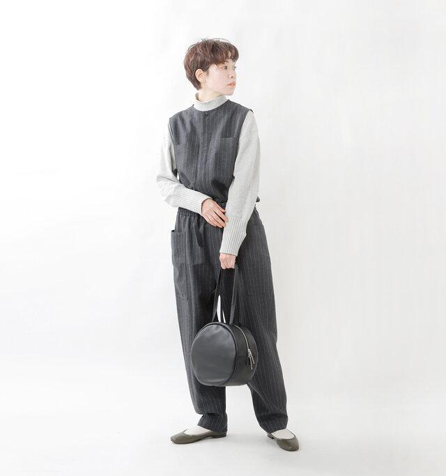 model saku:163cm / 43kg  color : black / size : one