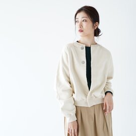 unfil ヴィンテージ コットン フリース クロップド カーディガン vintage cotton-fleece cropped cardigan WZFL-UW129 アンフィル
