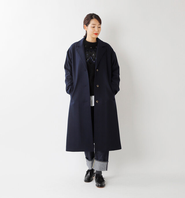 model mizuki:168cm / 50kg  color : navy blue / size : 36