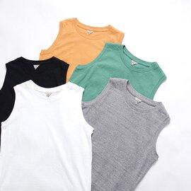 FilMelange|エレニ ELENI オーガニックコットン ノースリーブ カットソー Tシャツ 2012004 フィルメランジェ