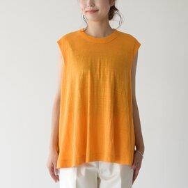 unfil|フレンチリネン ジャージー Aライン french linen jersey sleeveless A-line top クルーネック ノースリーブ Tシャツ WZSP-UW154 アンフィル