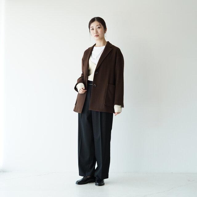 モデル:166cm / 47kg color : dark-brown(col.16) / size : フリーサイズ