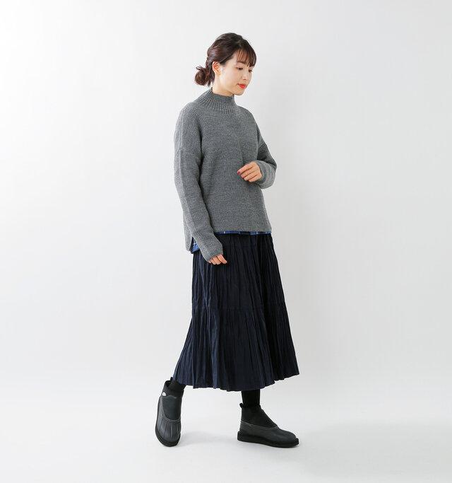 model mizuki:168cm / 50kg color : black / size : 6(約24.0cm)