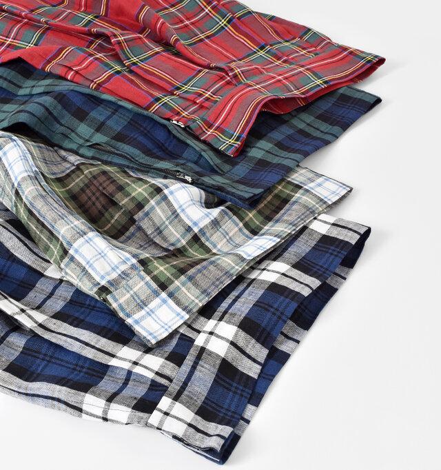 カラーは全4色。応用がきくデザインなので、カジュアルからフェミニンな着こなしまで幅広く楽しめます。