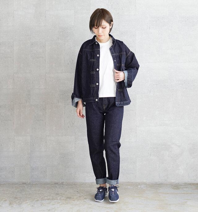 model:167cm / 49kg color : INDIGO / size : 01